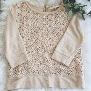 Ann Taylor LOFT Crocheted Sweater